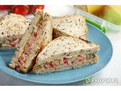 Kanapka z szynką, papryką i ogórkiem konserwowym Sandwiches, Breakfast, Easy, Recipes, Food, Breakfast Cafe, Rezepte, Essen, Paninis