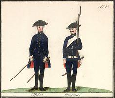 Invaliden Bataillon Beck: Officier. Gemeiner.