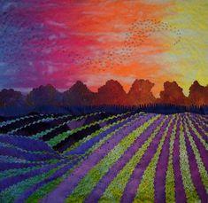 Prairie Lights # 3 art quilt by Laura Wasilowski