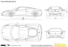 FERRARI blueprints