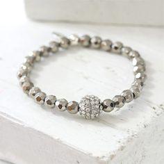 Rhinestone bead bracelet - sparkle & shine