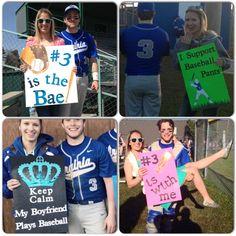 Baseball signs for the boyfriend :)