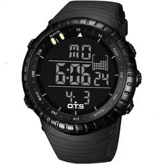 Men Waterproof Sports Watch For Man Black Outdoor Luminous Diving Sports Digital Watches Men Swim Military Watch #150907_W2