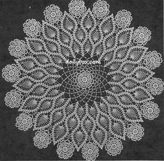 Free Vintage Crochet - Triple Pineapple Doily Pattern