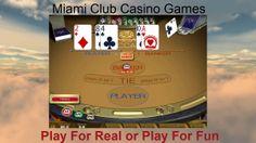 Baccarat Casino Games @ Miami Club