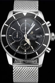 Breitling Superocean Heritage Chronographe 46 Black Dial And Bezel Stainless