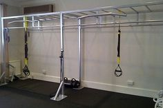 Monkey bars, rings, and pull-up bar Basement Gym, Garage Gym, Indoor Monkey Bars, Home Gym Set, Gym Bar, Workout Accessories, Fitness Accessories, Mma Gym, Crossfit Gym
