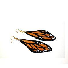 Boucles d'oreilles ailes de papillon orange #1
