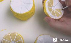 Окрашивание кожуры лимона