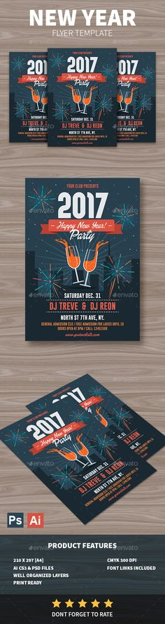 New Year Flyer - Holidays Events Download here: https://graphicriver.net/item/new-year-flyer/19140607?ref=alena994