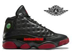 low priced c2f93 e4781 Air Jordan 13 - Chaussures Baskets Offciel Pas Cher Pour Homme Noir Rouge  414571-003