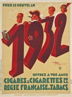 Henry Le Monnier (1893-1978) – Offrez les cigares  cigarettes de la Régie française des tabacs (1931)