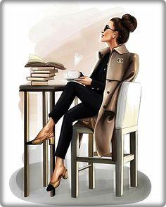 52 Ideas Fashion Sketchbook Ideas Girls For 2019 Trendy Fashion, Girl Fashion, Fashion Beauty, Girly Drawings, Fashion Wall Art, Fashion Design Sketches, Sketch Design, Breakfast At Tiffanys, Girl Boss