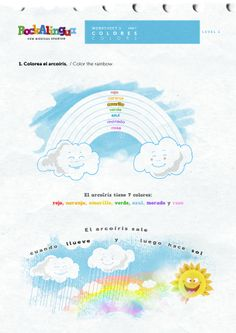 Numbers and colors Spanish Colors, Musical, Rainbow Colors, Numbers, Preschool, Coloring, Teaching, Kids, Yellow