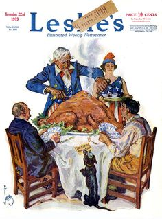thanksgiving vintage magazine covers | Leslie's Weekly 1919-11-22