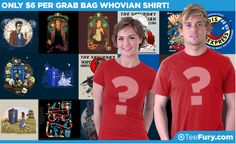 It's time for our Who vs. Non-Who $6 Grab Bag Sale! Are you of the Gallifreyan persuasion? Choose the Who option and get shirts full of doctors and blue boxes! Don't wait, it's happening TODAY ONLY! Get yours here: http://www.teefury.com/?&c3ch=Social&c3nid=Pinterest