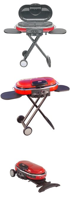Camping BBQs and Grills 181388: Coleman Road Trip Propane Portable Grill Lxe Red Camping Hunting Outdoors And More -> BUY IT NOW ONLY: $162 on eBay!
