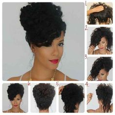 Put your curls up high with this beautiful bouffant.