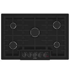 Bosch 800 Series 5-Burner Gas Cooktop (Black) (Common: 30-in; Actual: 31-in)