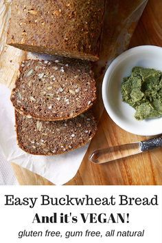 Vegan Buckwheat Bread Recipe by Nourish Everyday - it's so good and SO easy! A healthy recipe for bread made vegan and gluten-free using chia seeds, buckwheat flour and almond meal.