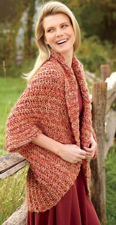 Simple Crochet Shrug - free crochet pattern
