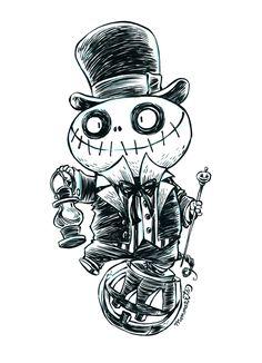 Inktober Ghoul 11 by RobbVision.deviantart.com on @deviantART