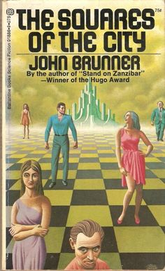 Cover art by Steele Savage Chessboard sci-fi covers for The Squares of the City