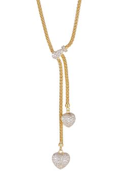 Two-Tone Textured Rope Crystal Pendant