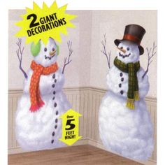 Snowman Party Cutout Scene Setter (Pack of 2)