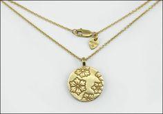 A ME & RO 10 KARAT YELLOW GOLD GEISHA PENDANT NECKLACE. Lot 150-7287 #jewelry