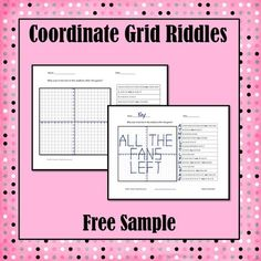 Are you looking for a fun way to practice plotting points?  Solving riddles is highly motivating and self checking.  *** This free sample comes from the following product*** Coordinate Grid Riddles (Four Quadrants)    Save money and get this product in a bundle: Coordinate Grid Bundle Coordinate Grid Riddles Bundle Math Riddles Bundle.
