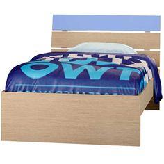 """Παιδικό κρεβάτι μονό """"ΝΟΤΑ"""" δρυς-σιέλ 90x190εκ."""