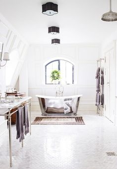 It doesn't get any better than all-white bathrooms!