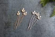 Crystal Hair Pins Bridal Hair Pins Wedding by ABitofLoveWedding