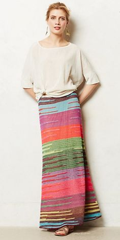 This skirt is made by Brazilian designer, Cecilia Prado. She is known for her beautiful artistry and unorthodox knitting techniques.