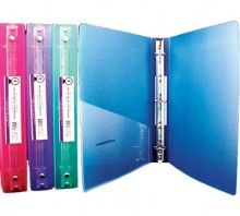 """3-Ring Glitter Binder 1"""" Poly with Pocket"""