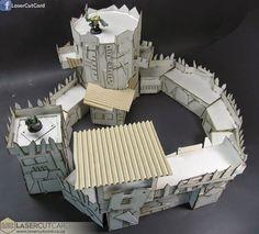 LaserCutCard - Orc Fortress Preview