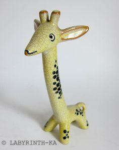 Giraffe 17 cm Walter Bosse Karlsruher Majolika