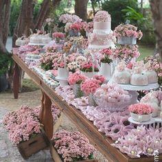 A gorgeous dessert table ...