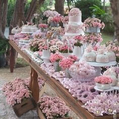 A gorgeous dessert table ...