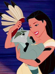 Pocahontas and Meeko, my favorite Disney duo Disney Pixar, Disney Pocahontas, Walt Disney, Disney Animation, Disney Nerd, Disney Girls, Disney And Dreamworks, Disney Characters, Princess Pocahontas