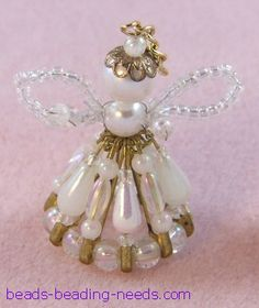 Beaded Angel Craft that you will love to create and decorate your tree with these beaded Christmas ornaments.