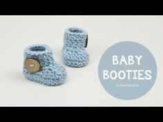 Croby Patterns | Crochet baby booties in 15 minutes or less!