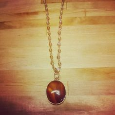 "Amber beaded 36"" Necklace $22.50"