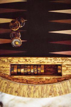 a bamboo backgammon set