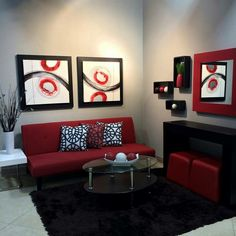 Hogar#sala#decoracion#rojo
