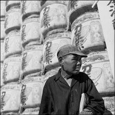 Man and sake barrels, 1951 by Werner Bischof