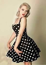 vestidos de bolas anos 60 modelo de alcinha
