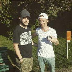 With fan in Prague