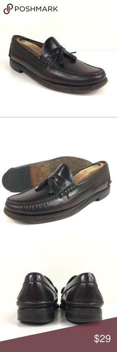 Johnston & Murphy Ski-Moc II Tassel Loafer - Men's Condition Insoles have been sprayed with a botanical disinfectant made from essential oils which kills 99.99% of bacteria and viruses. Upper leather has some minor scuff marks in a few places but nothing major. Bottoms show wear with heels showing some tread loss. Outside of that these shoes look fantastic.  Details MSRP: $175 Model #09124-9961 Full grain leather upper Handsewn stitching and welt construction Leather sole and combination…